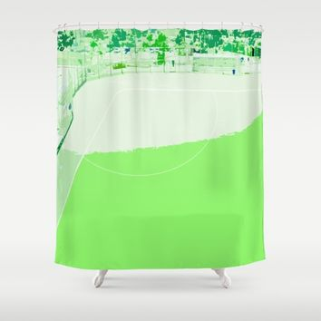 Baseball field /Baseballfeld 3 Shower Curtain by Karl-Heinz Lüpke