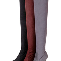 Hot Deal On Sale Plus Size Shoes Skinny Stretch High Heel Knee-length Boots [9613705423]