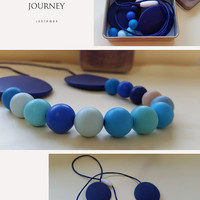 Silicone necklace , Teething necklace , Nursing necklace , For moms , Teething toys
