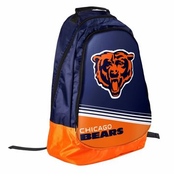 Chicago Bears BackPack / Back Pack Book Bag NEW - TEAM COLORS Core Stripe