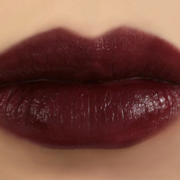 Vegan Mineral Lipstick - EMPRESS (dark vampy burgundy lipstick) natural lip tint, balm, lip colour