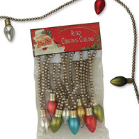 Retro Glass Light Bulb Garland