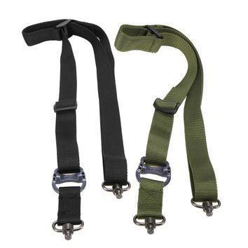 Lixada Military Tactical Gun Rifle Sling Strap Two Points Outdoor Safety Belt Rope Sling Adjustable Bungee Rifle Gun Sling Strap