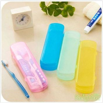 ICIK272 Good Useful Travel Portable Toothbrush Toothpaste Storage Box Cover Protect Case