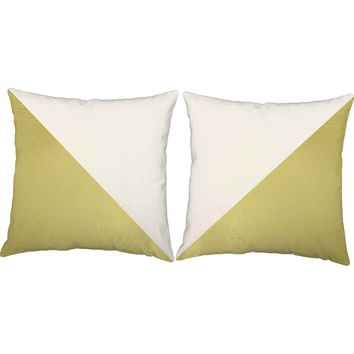 Metallic Gold Cross Section Throw Pillows