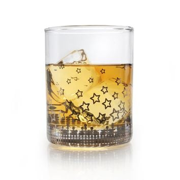 Highball Glasses: Silver Stars
