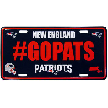 New England Patriots Hashtag License Plate FHLP120
