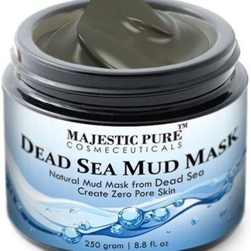 Majestic Pure Dead Sea Mud Mask, Spa's Premium Quality Facial Cleanser, 8.8 Oz