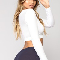 Run All The Way Seamless Active Top - White