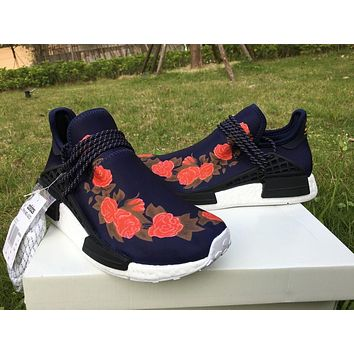 ADIDAS X BAPE PW HUMAN RACE NMD_R1 BB0624 BOOST BLACK-RED-ROSE Running shoes for Women & Men Size: 36--46