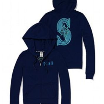 Seattle Mariners Bling Perfect Full Zip Hoodie - PINK - Victoria's Secret