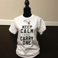 Keep Calm and Carry One by CheeksLittleBoutique on Etsy