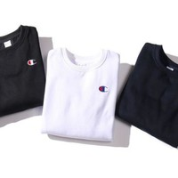 """Champion"" Fashion Casual Embroider logo Long Sleeve Pullover Sweater"
