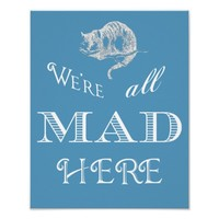Cheshire Cat Mad Poster or Print