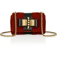 Christian Louboutin - Sweet Charity Mini embellished velvet shoulder bag