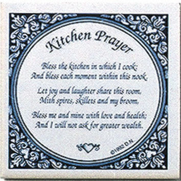 Delft Magnet Tile Quotes: Kitchen Prayer