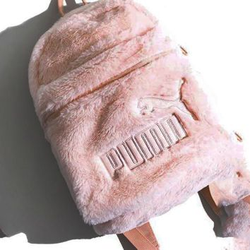 PUMA Wns Cute Fur Backpack Pink