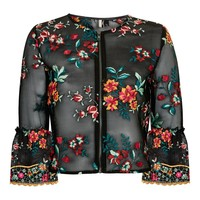 Floral Embroidered Jacket - New In Fashion - New In