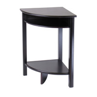 Astonishing & Radiating Liso Corner Table,Cube Storage and Shelf by Winsome Woods
