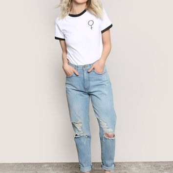 Power Of A Woman Ringer Tee at Gypsy Warrior