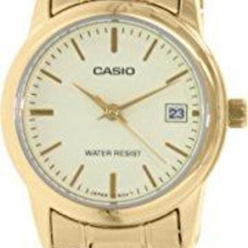 Casio Women's LTPV002G-9A Gold Stainless-Steel Quartz Watch