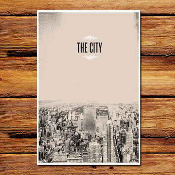 The City NYC Poster