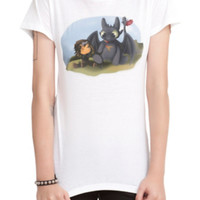 How To Train Your Dragon 2 Little Toothless Girls T-Shirt