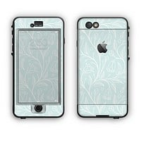 The Light Blue Floral Branches Apple iPhone 6 Plus LifeProof Nuud Case Skin Set