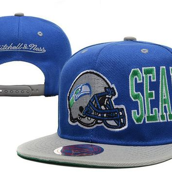 PEAPON Seattle Seahawks Snapback NFL Football Hat M&N