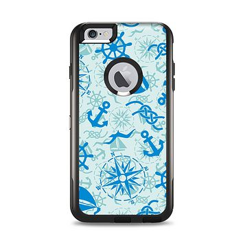 The Blue Nautical Collage V5 Apple iPhone 6 Plus Otterbox Commuter Case Skin Set