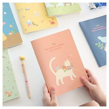 Cute Piyo Cat and Bear Livework Notebooks - Perfect For Writing/Journaling