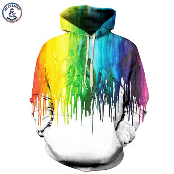 The melting colors of the rainbow hoodie