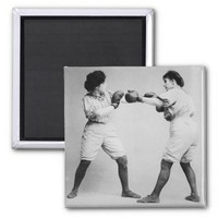 Vintage Photograph Women Boxers Refrigerator Magnets from Zazzle.com