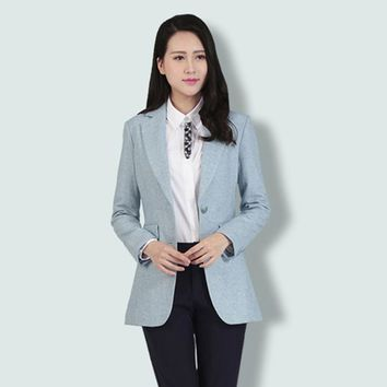 Women's Wool Button Closed Plus Size Blazer/Coat