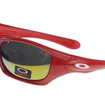 Oakley Asian Fit Sunglasses red Frame yellow Lens
