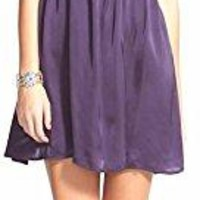 Love, FiRE Purple Spaghetti Strap Bow Detail Mini Dress Size X-Small
