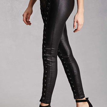 Strappy Metallic Shimmer Pants