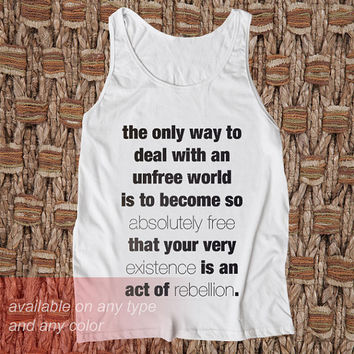 The Best Way Casual Wear Sporty Cool Tank top Funny Tank Cute Direct to garment