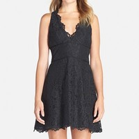 Women's Nicole Miller Floral Lace Dress,