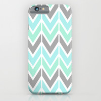 gray & blue navajo iPhone & iPod Case by Hannah