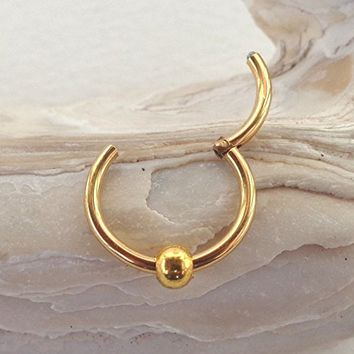 Hinged Segment Ring with movable Bead - Diameter 6mm,8mm,10mm