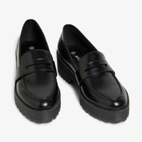 Platform loafers - Black - Shoes - Monki GB