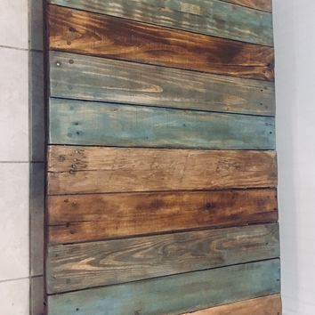 Reclaimed multicolored pallet coffee table