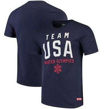 Licensed Sports Team USA Olympics in Mountain T-Shirt - Navy KO_20_2