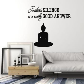 Vinyl Wall Decal Buddha Quote Buddhism Yoga Meditation Room Art Stickers Mural Unique Gift (ig5128)