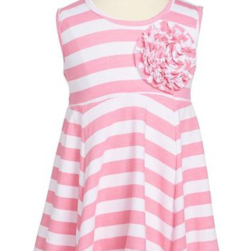 Toddler Girl's Popatu Stripe Tank Dress