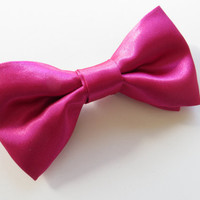 Hot Pink Satin Bow Tie For Men, Boy, Girl Tangled Ties Bow Tie
