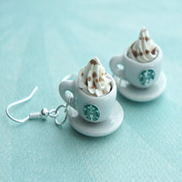 Starbucks Coffee Dangle Earrings