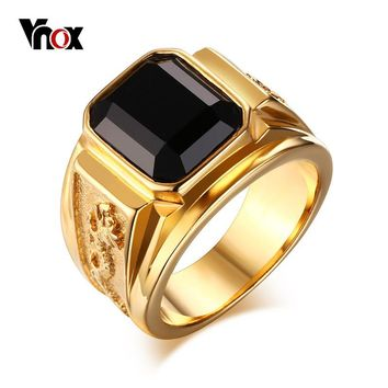 Vnox Punk Dragon Ring for Men CZ Stone Stainless Steel Gold Color Male Alliance Rocky Hip hop Jewelry 7 8 9 10 11 12#
