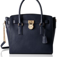 MICHAEL KORS Hamilton Large Leather Satchel Handbag